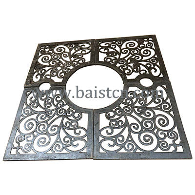 1500x1500mm Iron Tree Grate With Black Color