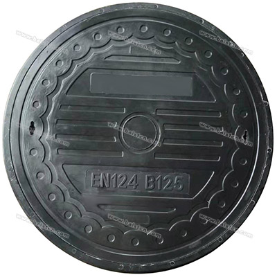 800mm B125 Manhole Cover Resin Materials with Anti-Theft